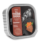 PATE THREE DOGS ADULTS -  MEAT AND CARROT FLAVOR