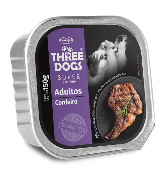 PATE THREE DOGS ADULTS - LAMB FLAVOR