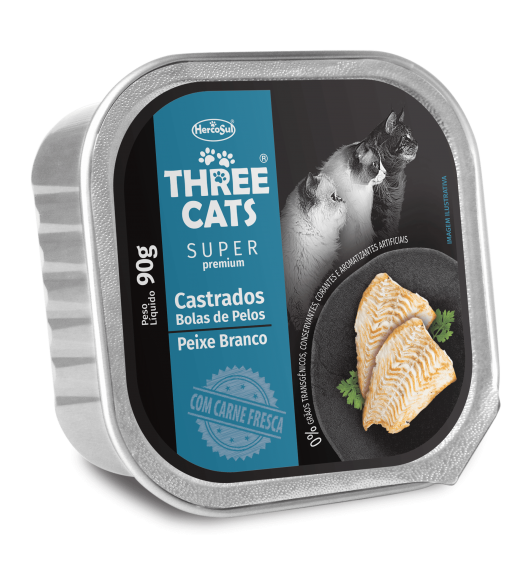 PATE THREE CATS STERILISED - WHITE FISH FLAVOR