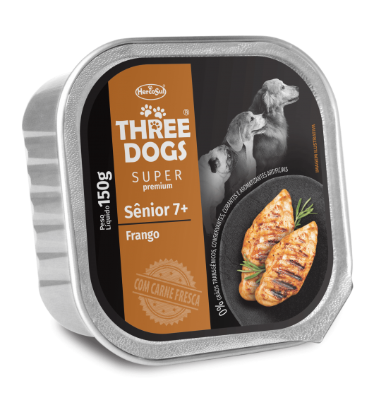 PATÊ THREE DOGS SÊNIOR – SABOR FRANGO