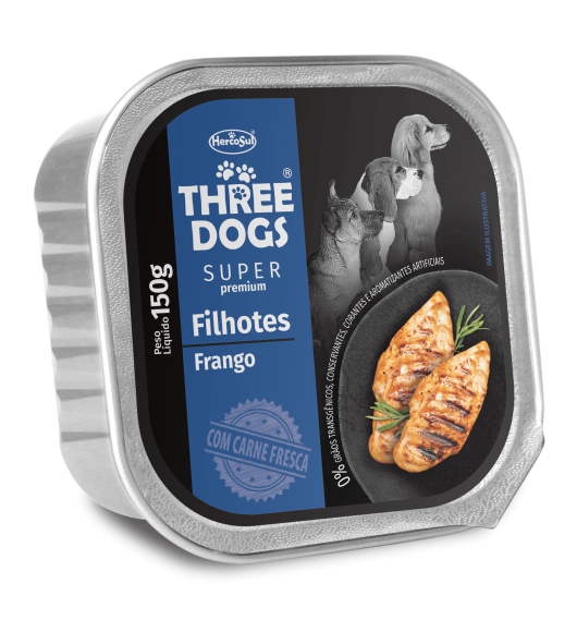 PATE THREE DOGS FILHOTES – CHICKEN FLAVOR