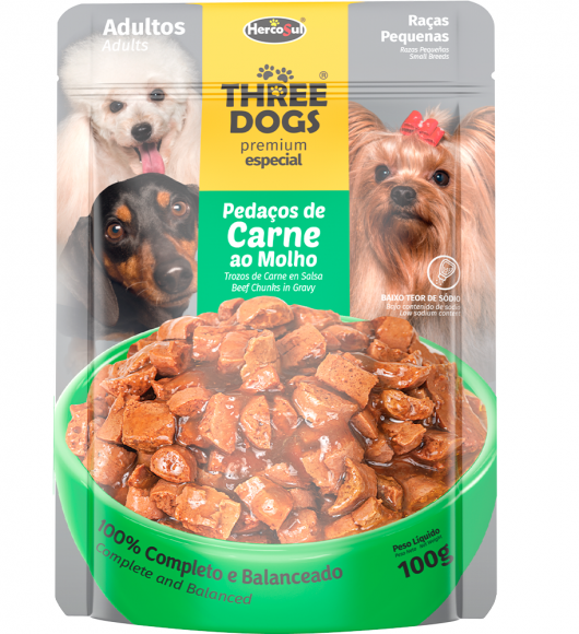 SACHET THREE DOGS - ADULTOS SMALL BREEDS
