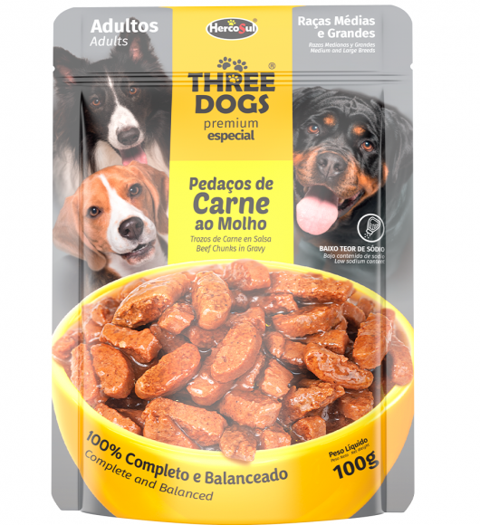 SACHET THREE DOGS  - ADULTS MEDIUM AND LARGE BREEDS