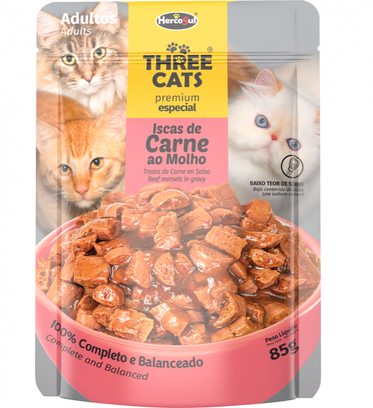 SACHET THREE CATS - ADULTS
